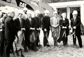Groundbreaking for Carrollton Hall in 1998