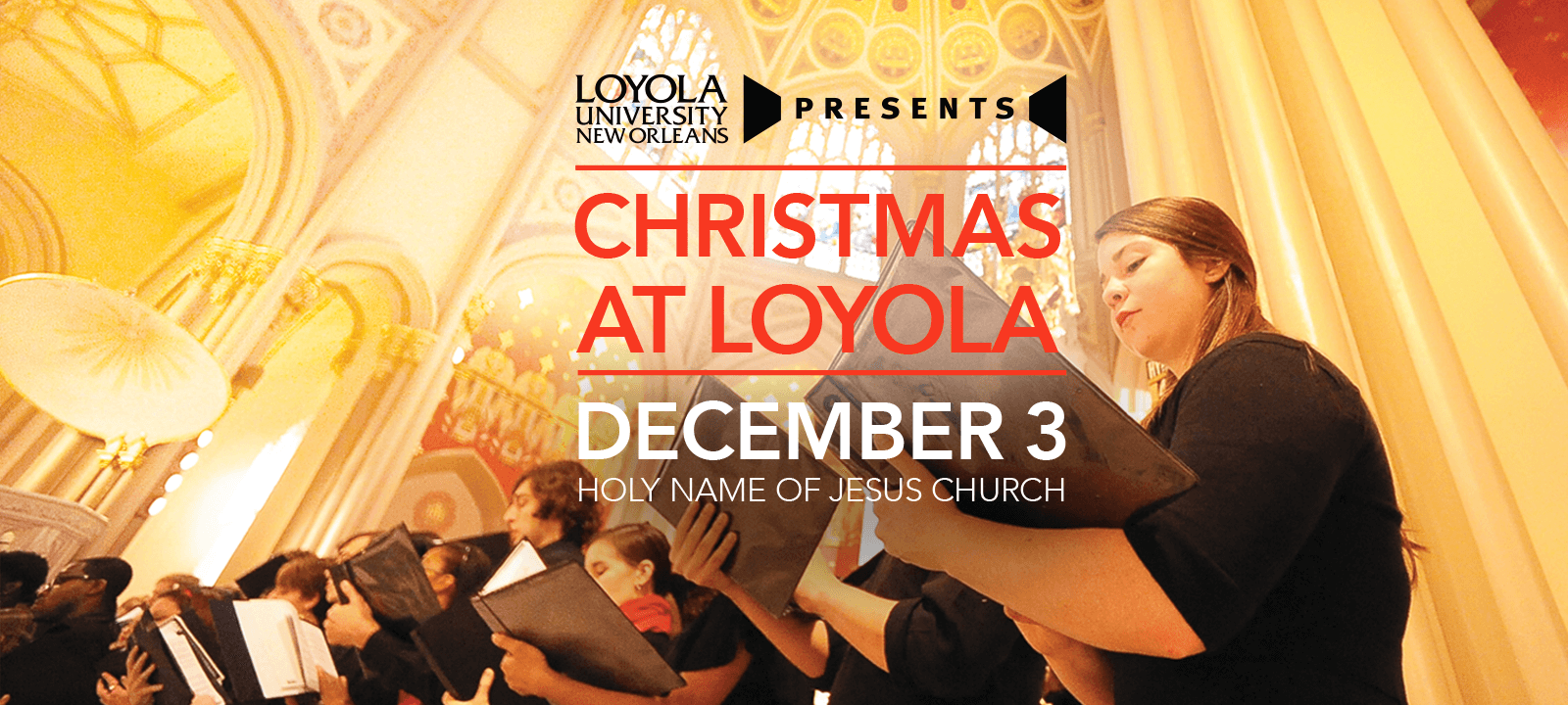 From the brass and choir opening to the Loyola Strings and the audience sing-alongs, come experience the joy of the season
