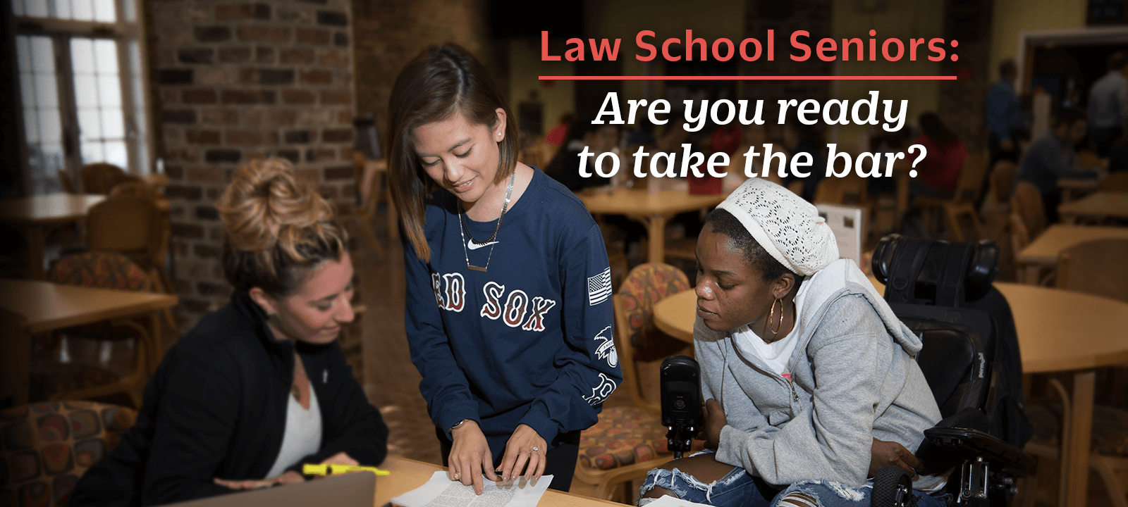 The Bar Prep workshop for graduating law students, presented by Bar Prep Department director Suzanne Scalise — Tuesday, March 20, LEARN MORE