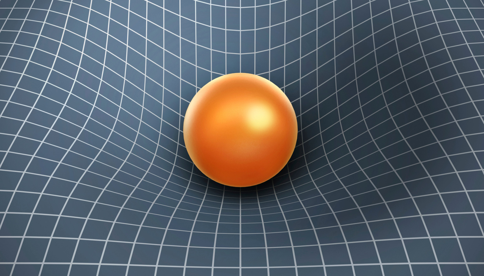 Ball weighing down on grid
