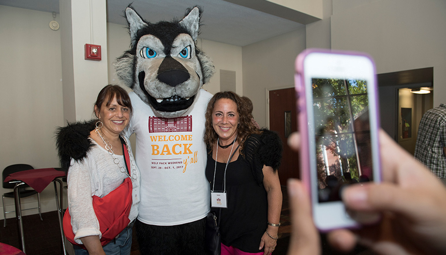 Two alumnae with Havoc