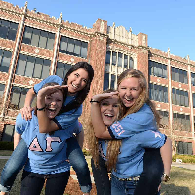 Four sorority sisters