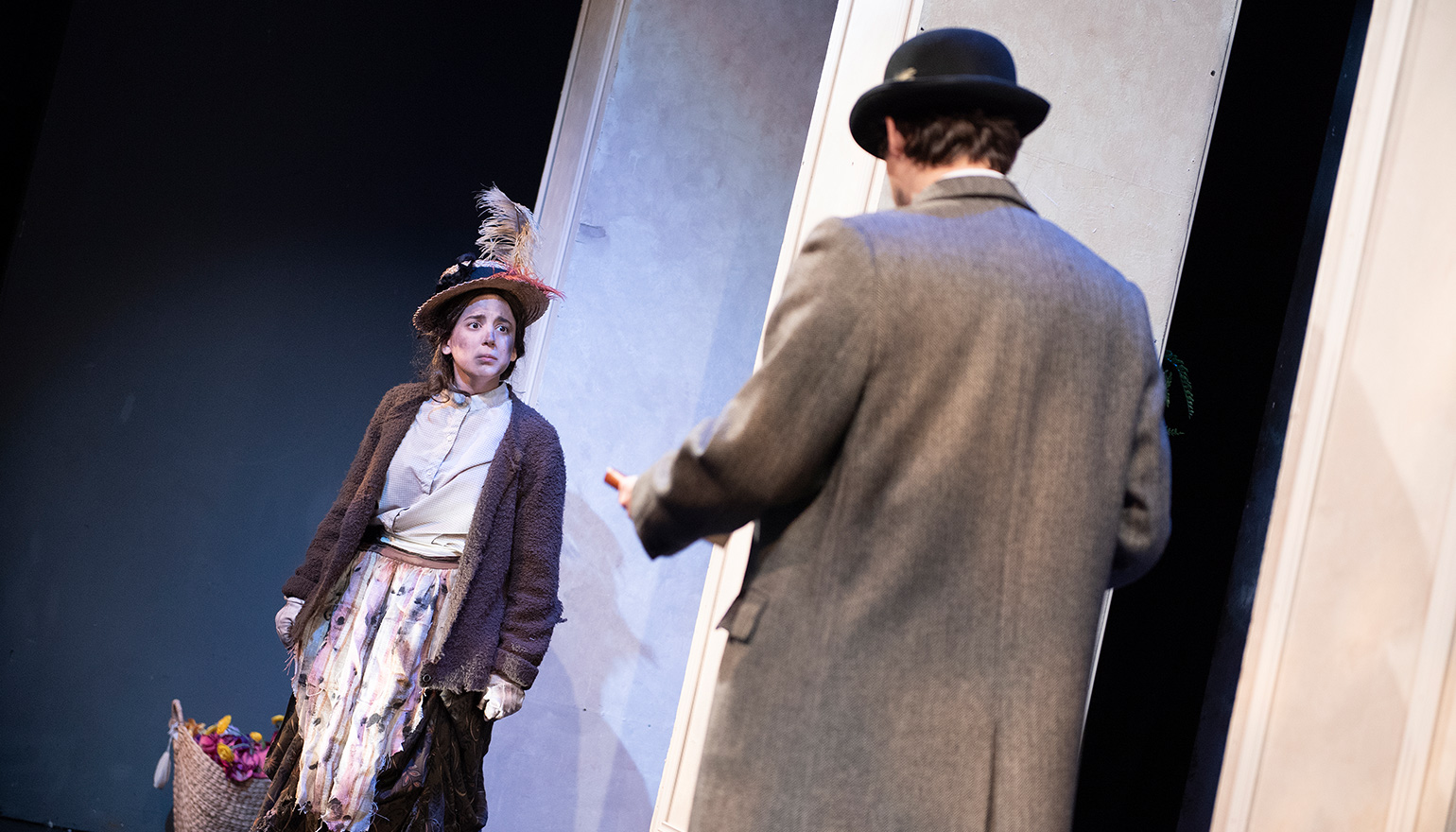 Two actors in play Pygmalion