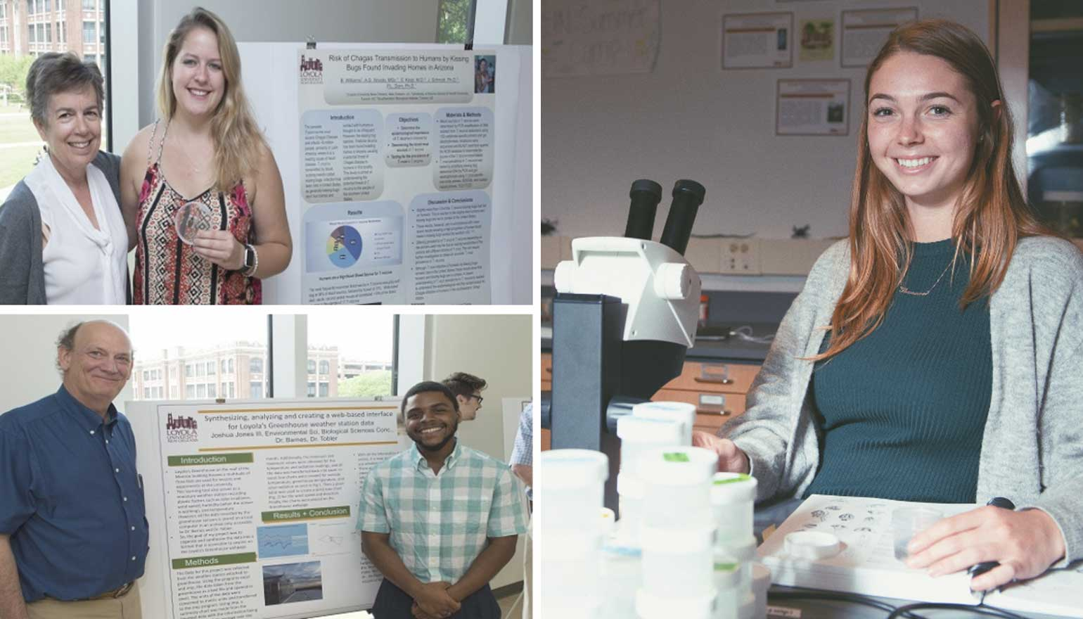 Three students with Capstone projects