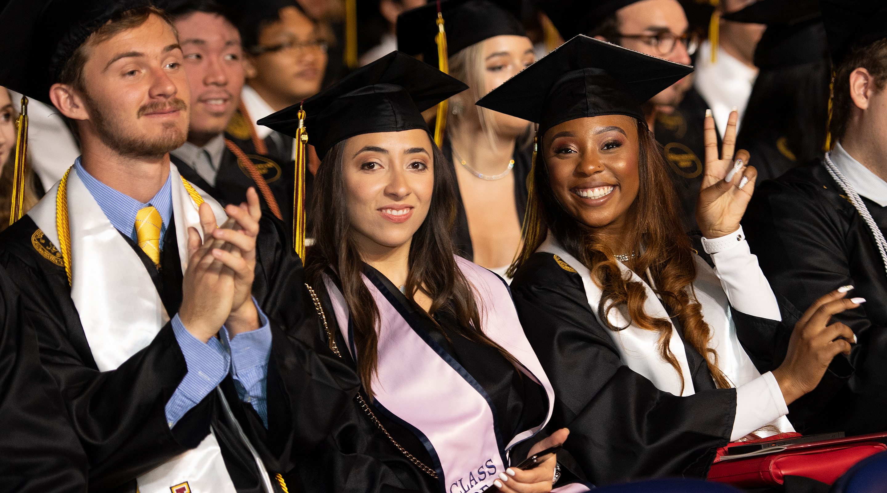fe7c43b8af Students at the 2019 Commencement