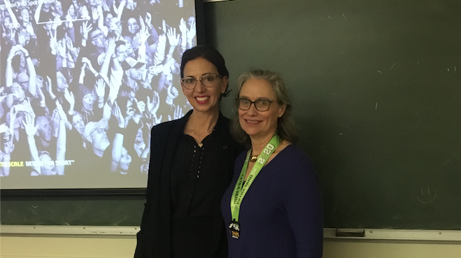molly mazzolini with dr. j cathy rogers